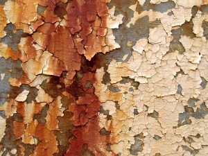peeling rusty paint